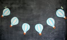 Hand Painted Hot Air Balloon Garland
