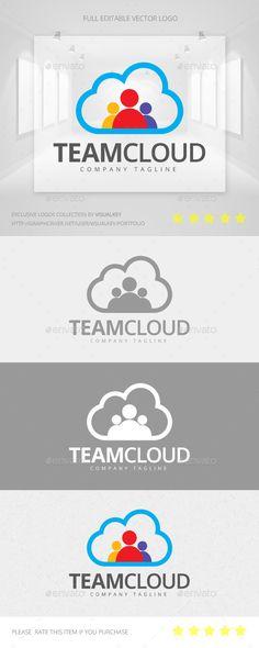 Team Cloud Logo Template Vector EPS, AI. Download here: http://graphicriver.net/item/team-cloud-logo/11468679?ref=ksioks