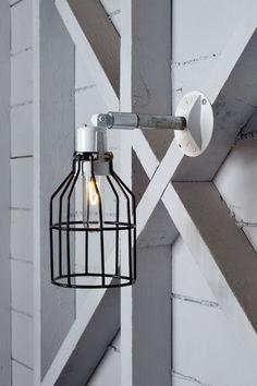 Lampe de mur industriel - fil noir extérieur Cage extérieur bougeoir applique murale sur Etsy, $95.90 CAD
