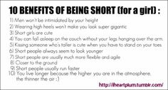 Plus short girls can usually attract really tall guys