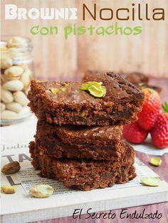 Brownie de Nocilla y Pistacho / https://elsecretoendulzado.blogspot.com.es