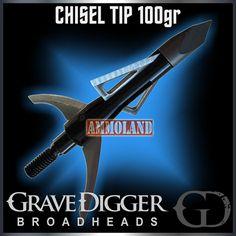 Grave Digger Chisel Tip broadheads