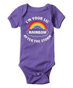 Purple 'I'm Your Lil' Rainbow After the Storm' Bodysuit - Infant