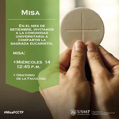 #MisaFCCTP   Cierra tus ojos, junta tus manos y reencuéntrate con Dios a través de la oración. Te esperamos hoy en el Oratorio de nuestra Facultad.