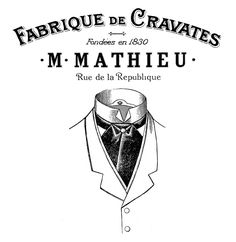 French Men's Neckwear Transfer  //  The Graphics Fairy