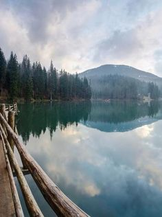 Ukraine. Carpathian Mountains ,. Synevir lake , from Iryna