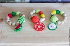 """Купить Игрушка прорезыватель грызунок """"Фруктики"""" - разноцветный, браслет, игрушка, игрушка-прорезыватель, прорезыватель, для малышей"""