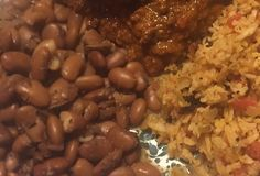 Pinto Beans Cooked Over a Campfire in a Dutch Oven