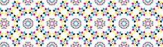 CMYK kaleidoscopic pattern