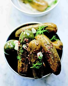 Garlic dill pickle recipe from Blue Ribbon Cookbook