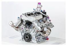 Porsche 919 Hybrid Motor im Porsche Museum