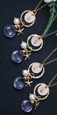 sweet initial necklaces