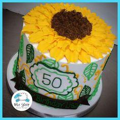 sunflower buttercream birthday cake