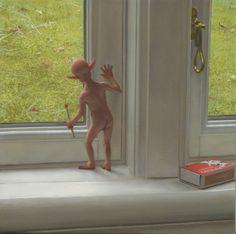 Ron Francis - Oil Paintings Ron Francis, Art Addiction, Australian Artists, Satan, Tinkerbell, Contemporary Art, Disney Characters, Fictional Characters, Folk