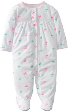 193bbd6ee Perfect sleep and play fashion for your baby, this White Cherry Footie by  Carter's dresses your little one in warm and cozy style.