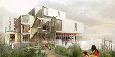 Student housing of 115 units in Paris - France, h2o architectes. Image Courtesy of Europe 40 Under 40