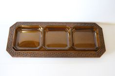 RELISH TRAY Thermo-Serv Westwood Faux Wood and by TheJellyJar