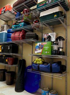Organizing Camping Gear Storage Organization Garage Tips Items