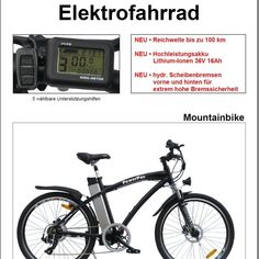 MOUNTAINBIKE E-BIKE PEDELEC ELEKTROFAHRRAD - HA Lehmann Camping, Bicycle, Outdoor, Bike, Campsite, Outdoors, Bicycle Kick, Bicycles, Outdoor Games