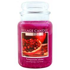 Village Candle Limited Edition Large Jar - Pomegranate Jubilee