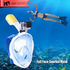 2017 New Scuba GoPro Camera Snorkel Mask Underwater Anti Fog