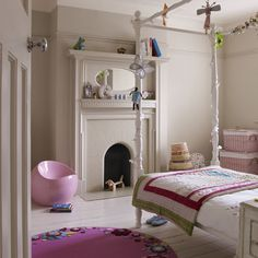 Little girl's room. Would be a little less great without the million foot ceilings.