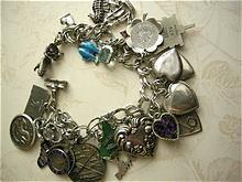 Fabulous 25 Dangling Vintage Sterling Charm Bracelet