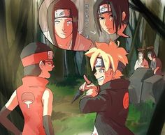 Neji and Boruto ♡ Itachi and Sarada Naruto Shippuden Sasuke, Naruto And Sasuke, Itachi, Anime Naruto, Sarada E Boruto, Naruto Comic, Naruto Cute, Haikyuu Anime, Shikadai