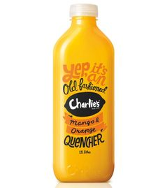 Beautiful Orange Juice Packaging for Charles #typography #packaging #yellow in Type
