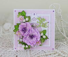 Moja papierowa kraina: Foamiranowe fiolety