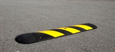 The 2 1/4-inch rubber speed bump provides a firm speed deterrent, ideal for areas with high pedestrian traffic.  Rubber speed bumps have an advantage over traditional asphalt because they are removable, easy to install, and not susceptible to cracking. To learn more, visit:  http://www.reliance-foundry.com/traffic-safety-supplies/speed-bumps