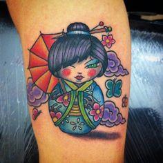 #Tattoo #tatuaggio #torinotattoo #turin #traditional #traditionaltattoo #oldschooltattoo #colortattoo #kokeshitattoo #kokeshitatuaggio #bambolinagiapponese