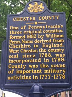 Chester County historic signs