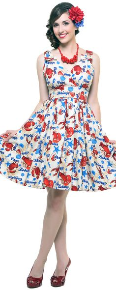 Lolita Girl Sailors Knot Day Dress - Unique Vintage - Pinup, Holiday & Prom Dresses.