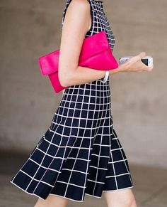 New York FW ~=~ Spring 2014, Love the Pattern, Color Combo & Bright Pink Splash