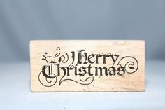 Merry Christmas Nice Script F-245 USA PSX Wood & Foam Backed Rubber Stamp    http://autopartspuller.com/ Great Sale 50% off entire store!! Copper, Glassware, Wood Crafts, Scrap Booking   Also Find us on:  http://hometownvintage.com http://autopartspuller.com @HomeTownVintage @autopartspuller @preppershowto http://facebook.com/hometownvtg http://facebook.com/AutoPartsPuller