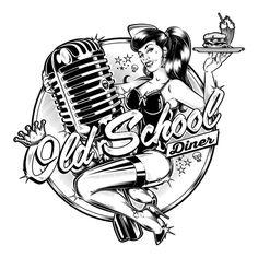 Trendy tattoo old school design rockabilly pin up Ideas Rockabilly Pin Up, Rockabilly Fashion, Rockabilly Artwork, Rockabilly Makeup, 50s Makeup, Crazy Makeup, Makeup Art, Psychobilly, Plotter Silhouette Portrait