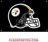 Steelers Fan Banner x Steelers Flag, Pittsburgh Steelers, Football Helmets, Flags, Banner, Banner Stands, Banners, Flag