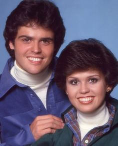 Donny & Marie Osmond from their TV show. just about the time of the Dorothy Hammill haircut that I also had...