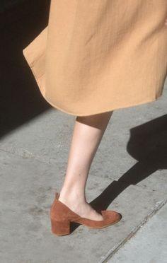 atp dani pump | anaise. Beige camel brown shoe footwear