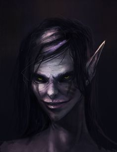 Dark elf, Adriana Zaroda on ArtStation at https://www.artstation.com/artwork/39v0o