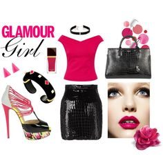 Glamour Girl #valentinesday outfit featuring Christian Louboutin, Ted Baker, Yves Saint Laurent, Carbon & Hyde, Alexis Bittar, Tom Ford and Clinique