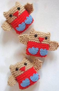 Jingly Robins- Christmas Decoration Knitting Kit