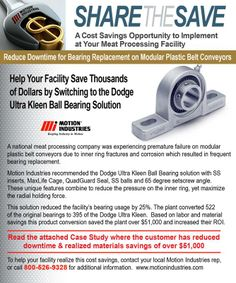 Reduce Product Costs & Downtime for Bearing Replacement on Modular Plastic Belt Conveyors