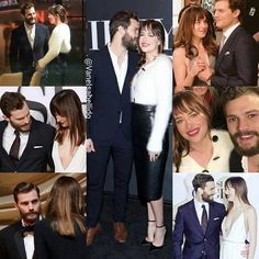 They are adorbs. #jamiedornan  #dakotajohnson #fiftyshades