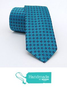 "Turquoise blue and dark blue dotted men's tie 6 cm (2,36"") DK-178 from Nazo… #handmadeatamazon #nazodesign"