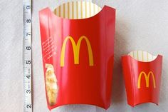 McD's fries - take a look at the portions