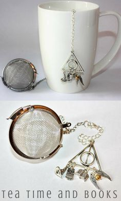 Cozy day by the fire with Harry Potter, tea, and a warm fire Handmade Harry Potter Tea Strainer Zinc and Alloy Free #affiliate #harrypotter #teatime #cozy