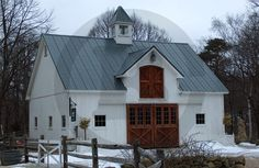 Small impressive Horse barn with dormer and cupola