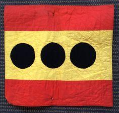 Banderín de coche de Almirante con mando.